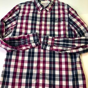Guess Jeans Vintage Casual Button Down Shirt Med